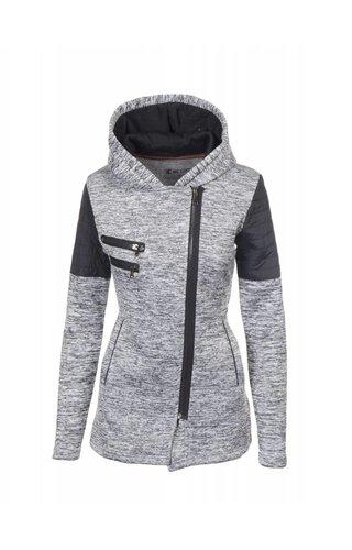 Becool Lange dames vest met asymmetrisch rits