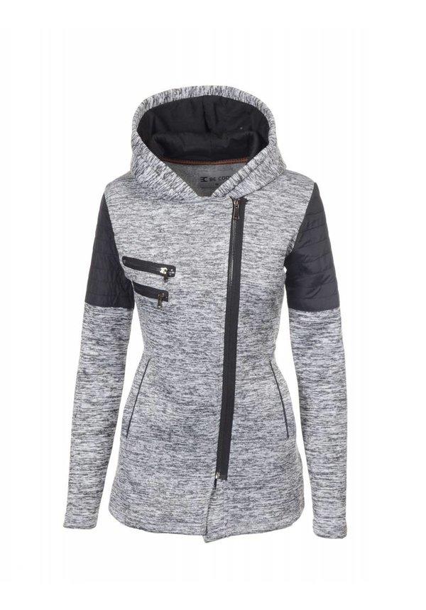 Be cool Dames vest met asymmetrisch rits en
