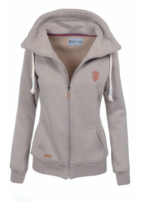 Be cool dames vest met capuchon bruin