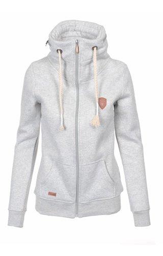Becool Be cool dames vest met capuchon grijs