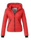 Modegram dames gewatteerde jas rood