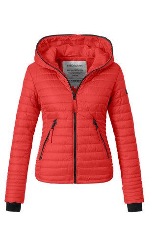 Modegram Modegram Damen gesteppte Jacke rot