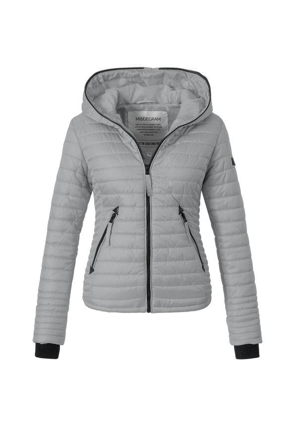 Modegram dames gewatteerde jas grijs