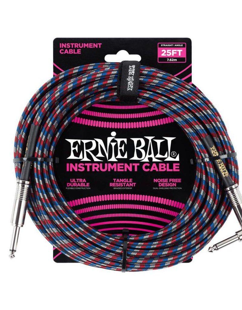 Ernie Ball Ernie Ball black red blue white braided cable 7m