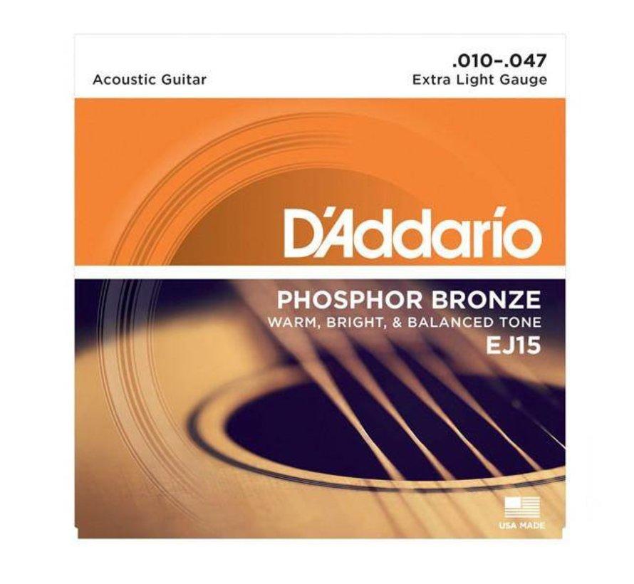 D'Addario EJ15 Phosphor Bronze 10-47