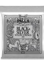 Ernie Ball Ernie Ball  Ernesto Palla black & silver nylon classical