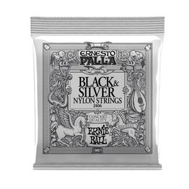 Ernie Ball Ernie Ball  Ernesto Palla black & silver nylon classical