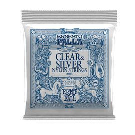 Ernie Ball Ernie Ball  Ernesto Palla clear & silver nylon classical