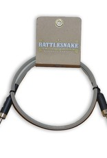 Rattlesnake Rattlesnake Cable Co. 3 feet speaker cable dirty tweed weave