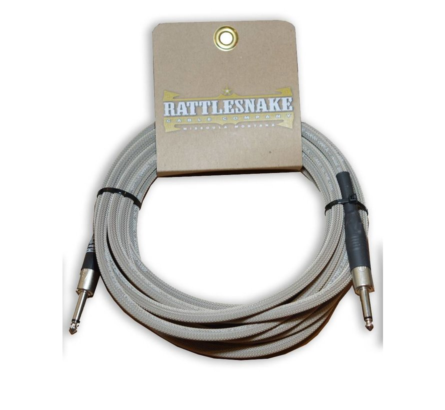 Rattlesnake Cable Co. 20 feet standard cable dirty tweed weave