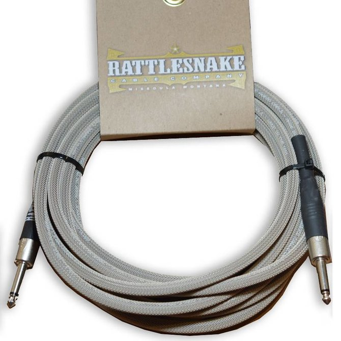 Rattlesnake Rattlesnake Cable Co. 30 feet standard cable dirty tweed weave