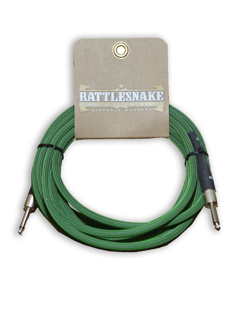 Rattlesnake Rattlesnake Cable Co. 15 feet standard cable green weave
