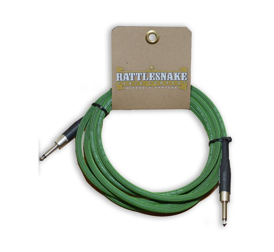 Rattlesnake Cable Co. 10 feet standard cable green weave