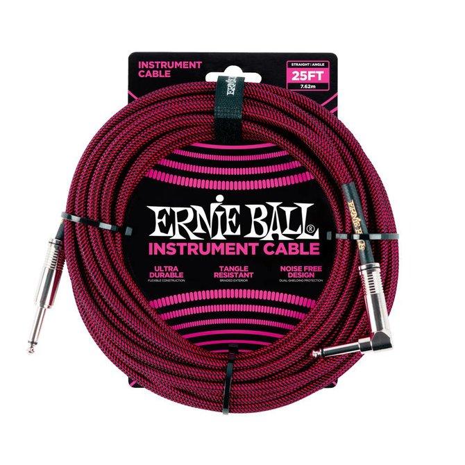 Ernie Ball Ernie Ball black red braided cable 7m
