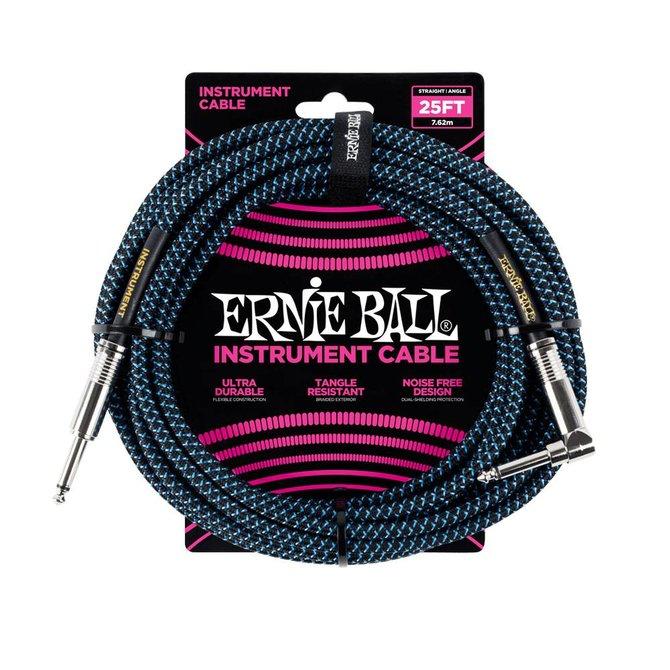 Ernie Ball Ernie Ball black blue braided cable 7m