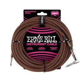 Ernie Ball Ernie Ball black orange braided cable 7m