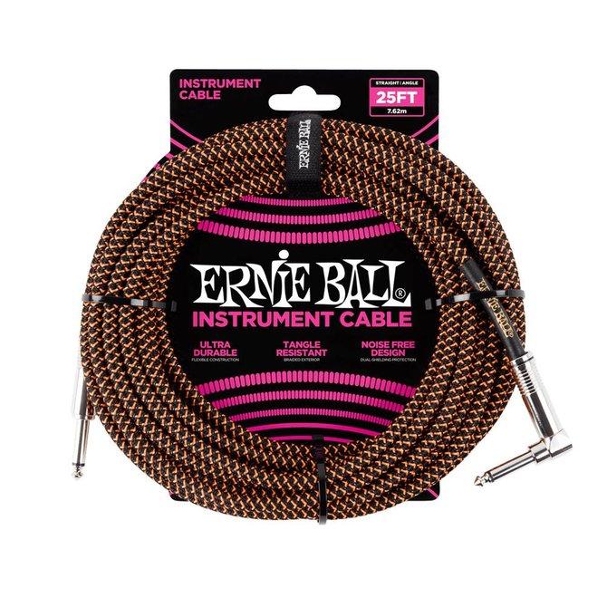 Ernie Ball Ernie Ball black orange braided cable 7m