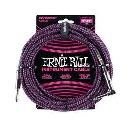 Ernie Ball Ernie Ball black purple braided cable 7m