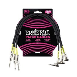 Ernie Ball Ernie Ball Classic cable black patch 45cm 3-pack