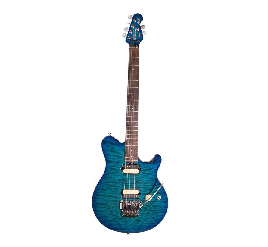 Music Man Axis quilted Balboa blue burst