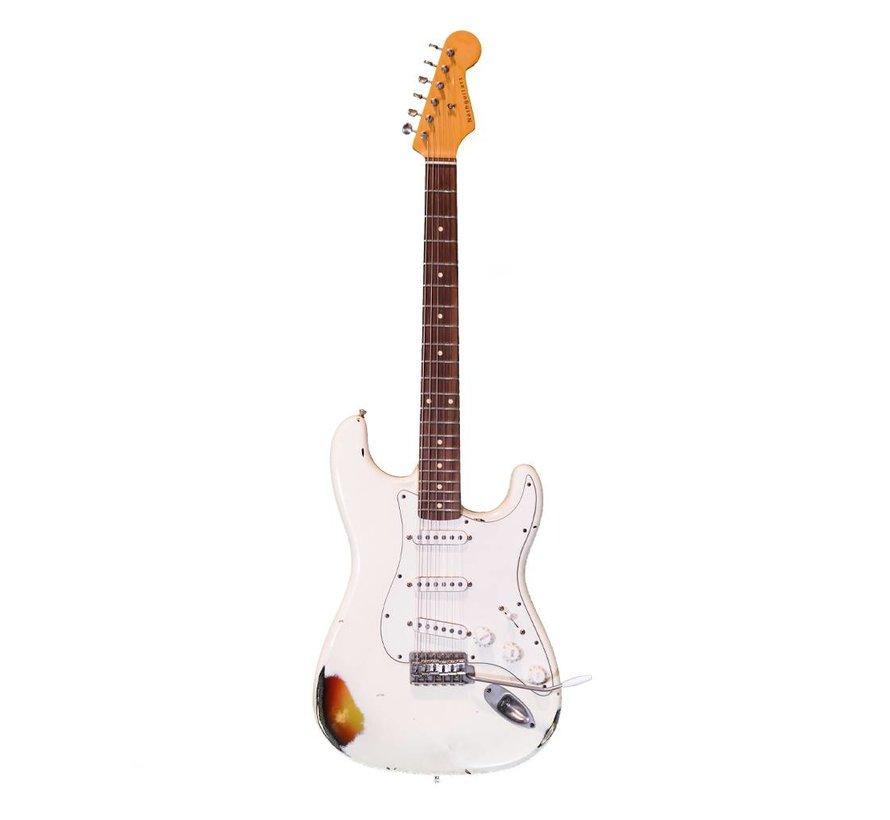 Nash Guitars S-63 vintage white over 3 tone sunburst