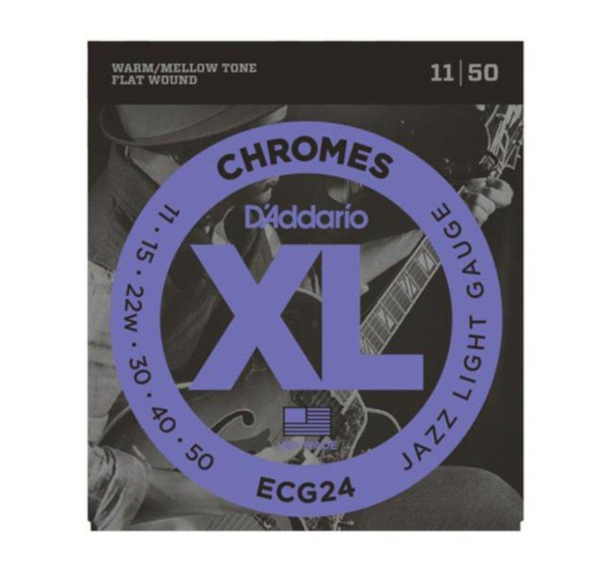 D'Addario ECG24 Chromes 11-50