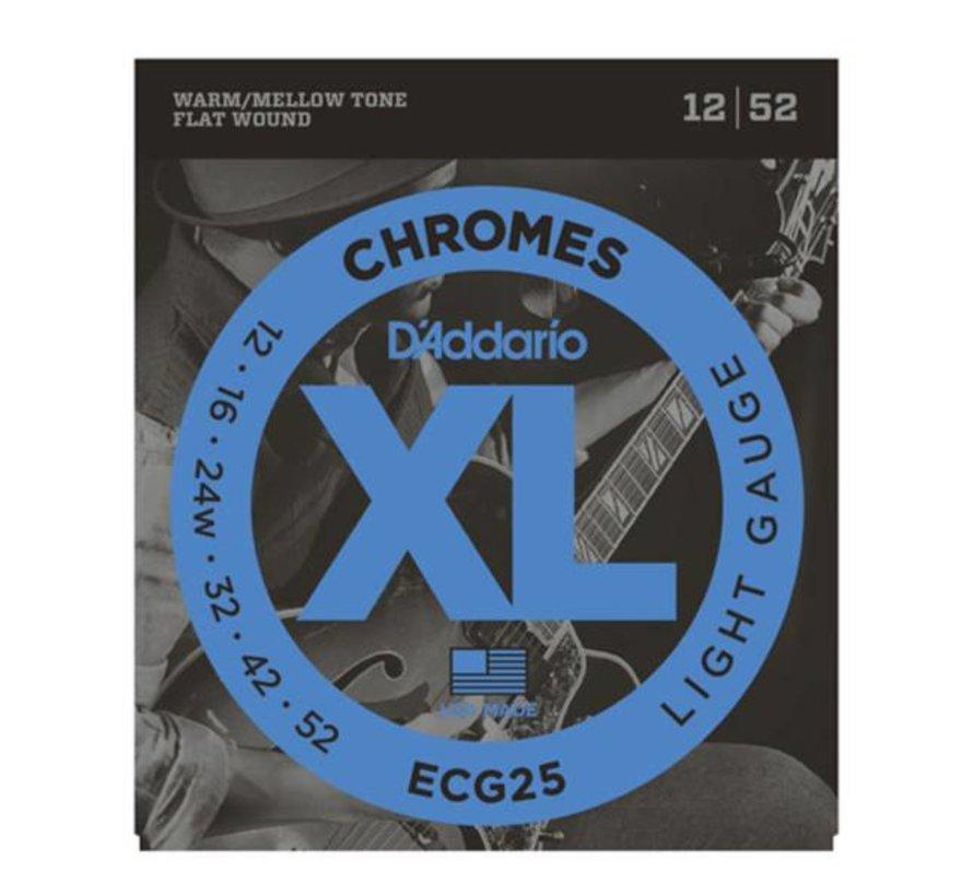 D'Addario ECG25 Chromes 12-52