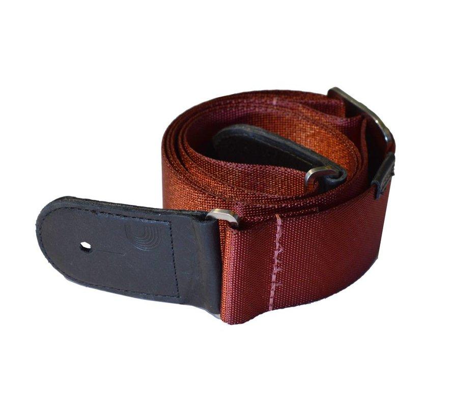 D'Addario premium woven strap red