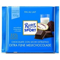 Rittersport - tablet 100gr extra fine milk  -  12 tabletten