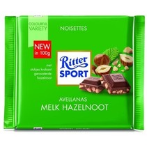 Rittersport - tablet 100gr melk hazelnoot  -  12 tabletten