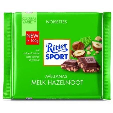 Rittersport Rittersport - tablet 100gr melk hazelnoot  -  12 tabletten
