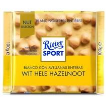 Rittersport - Tablet 100Gr Wit Hele Hazelntt, 10 Tabletten