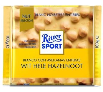Rittersport Rittersport - Tablet 100Gr Wit Hele Hazelntt, 10 Tabletten