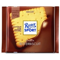 Rittersport - Tablet 100Gr Butter Biscuit, 11 Tabletten