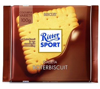 Rittersport Rittersport - Tablet 100Gr Butter Biscuit, 11 Tabletten