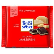 Rittersport - Tablet 100Gr Marzipan, 12 Tabletten