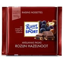 Rittersport - tablet 100gr trauben - nuss  -  12 tabletten