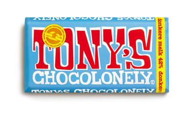 Tony's Chocolonely Tony'S Chocolonely - Reep 180G Donkere Melk 42%, 15 Repen