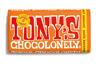 Tony's Chocolonely Tony's Chocolonely - 180g caramel zeezout - 15 repen
