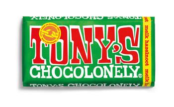 Tony's Chocolonely Tony'S Chocolonely - Reep 180G Melk Hazelnoot, 15 Repen
