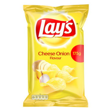 Lay's Lay's - 175g cheese/onion 8zk/ds- 8 zakken
