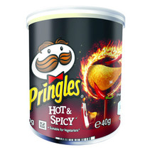 Pringles - 40gr hot & spicy - 12 kokers