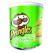 Pringles - 40gr sour cr/onion - 12 kokers