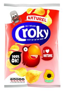 Croky Croky - 100gr naturel - 12 zakken