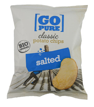 Go Pure! Go Pure! - bio! go pure chips salted - 15 zakken