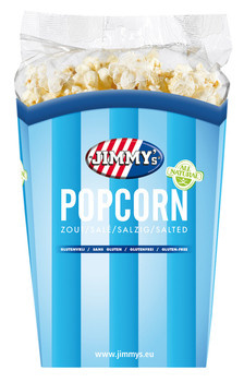 Jimmy´s Jimmy´s - tub popcorn 90g zout - 6 bekers