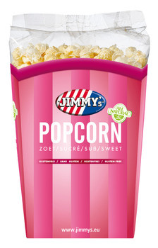 Jimmy´s Jimmy´s - tub popcorn 140g zoet - 6 bekers