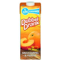 Dubbel Drank - dr sinaas/perzik 1lt pakken - 8 pakken