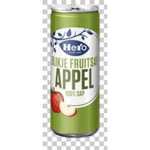 Hero - appelsap 25cl blik - 24 blikken