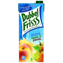Dubbel Friss - fr appel/perzik 1,5lt pakken- 8 pakken